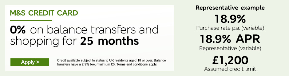 Apply Now - M&S Credit Card