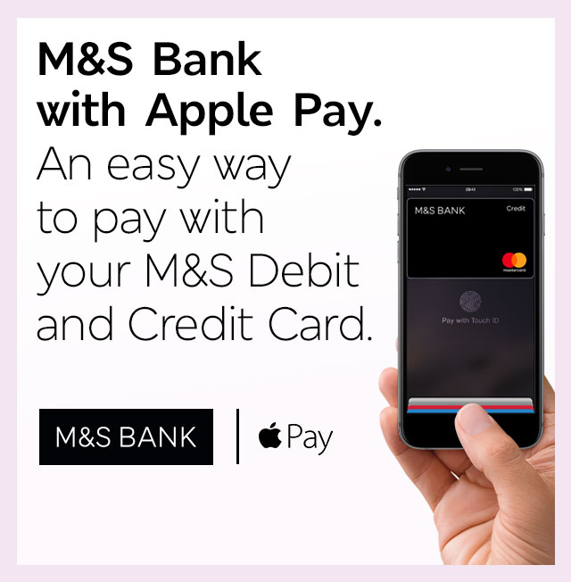 An easy way to pay with your M&S Debit and Credit Card