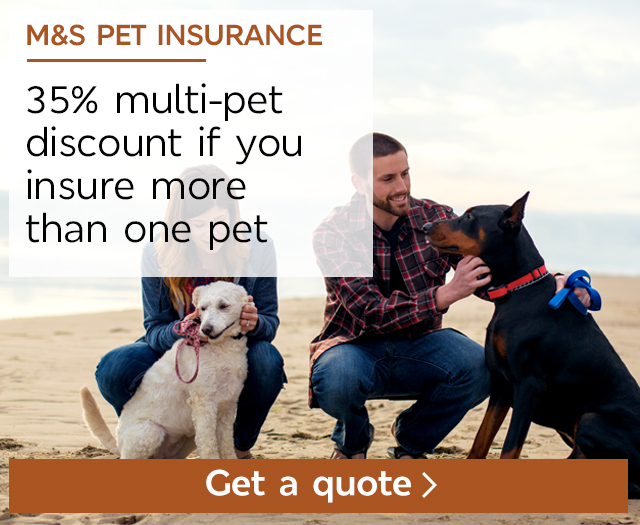 M&S Pet Insurance - up to £30 of M&S vouchers with a new policy
