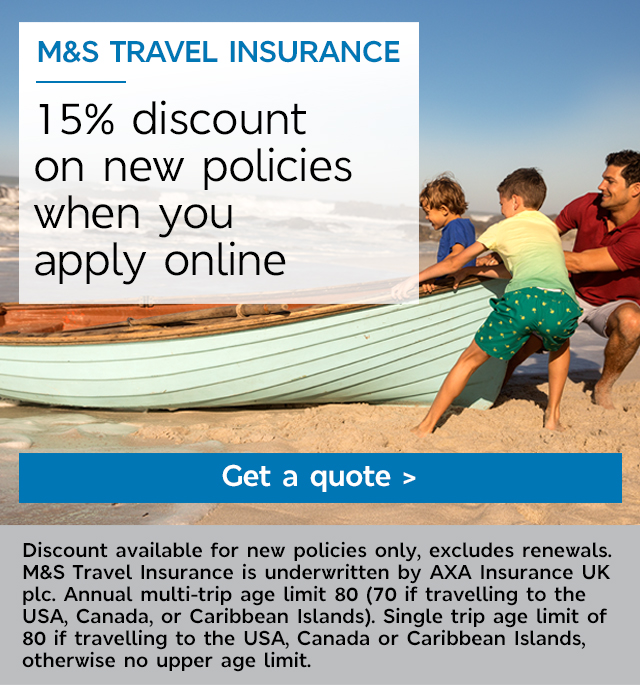 Start your quote - M&S Travel Insurance