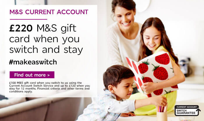 M&S Current Account with no monthly fee - Find out more