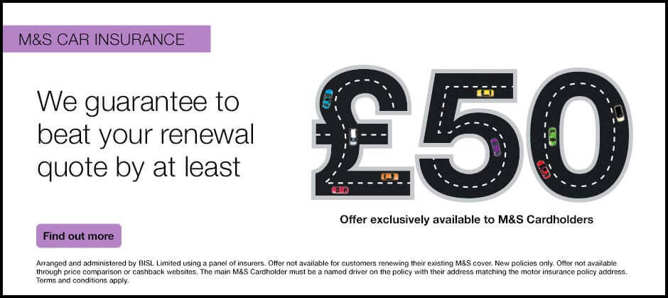 M&S Car Insurance - Find out more