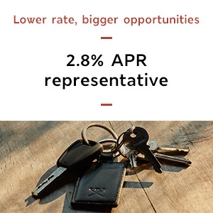 An exciting rate for exciting plans 3.3% APR Representative - learn more